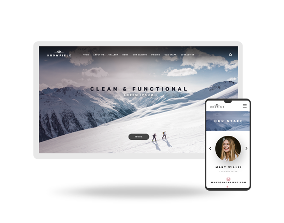 Snowfield PSD Template Icon