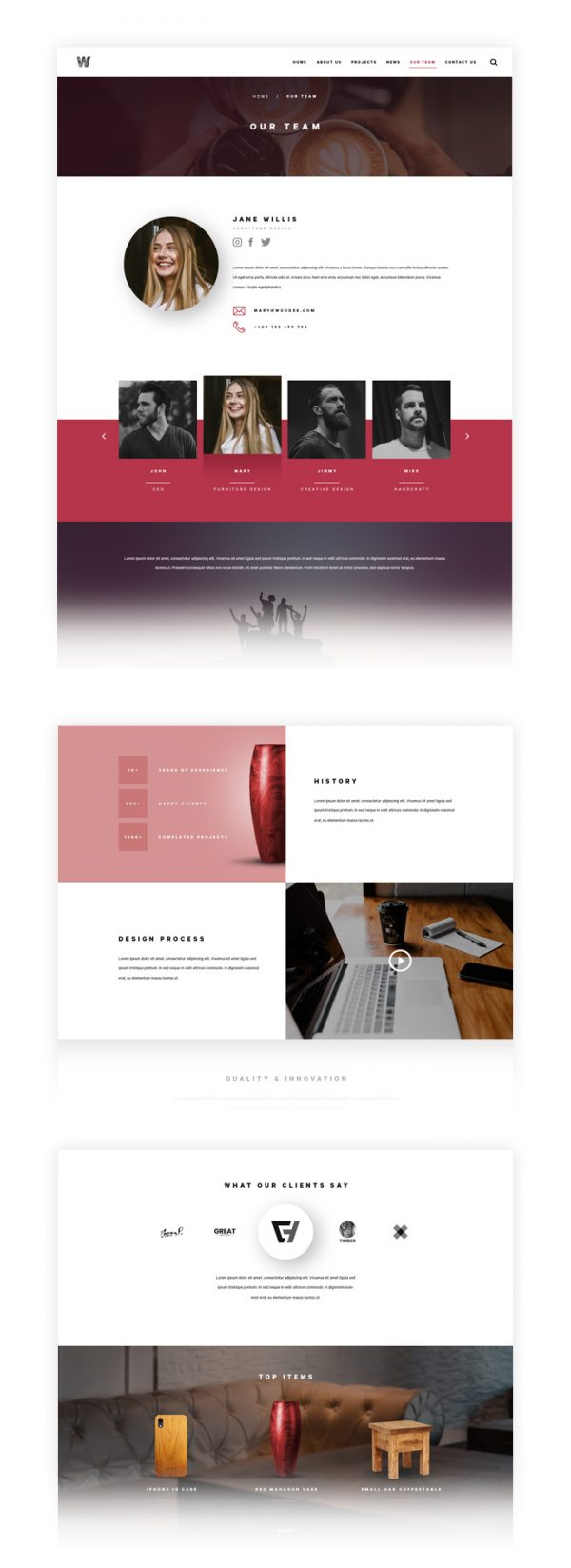 Woodee PSD Responsive Template