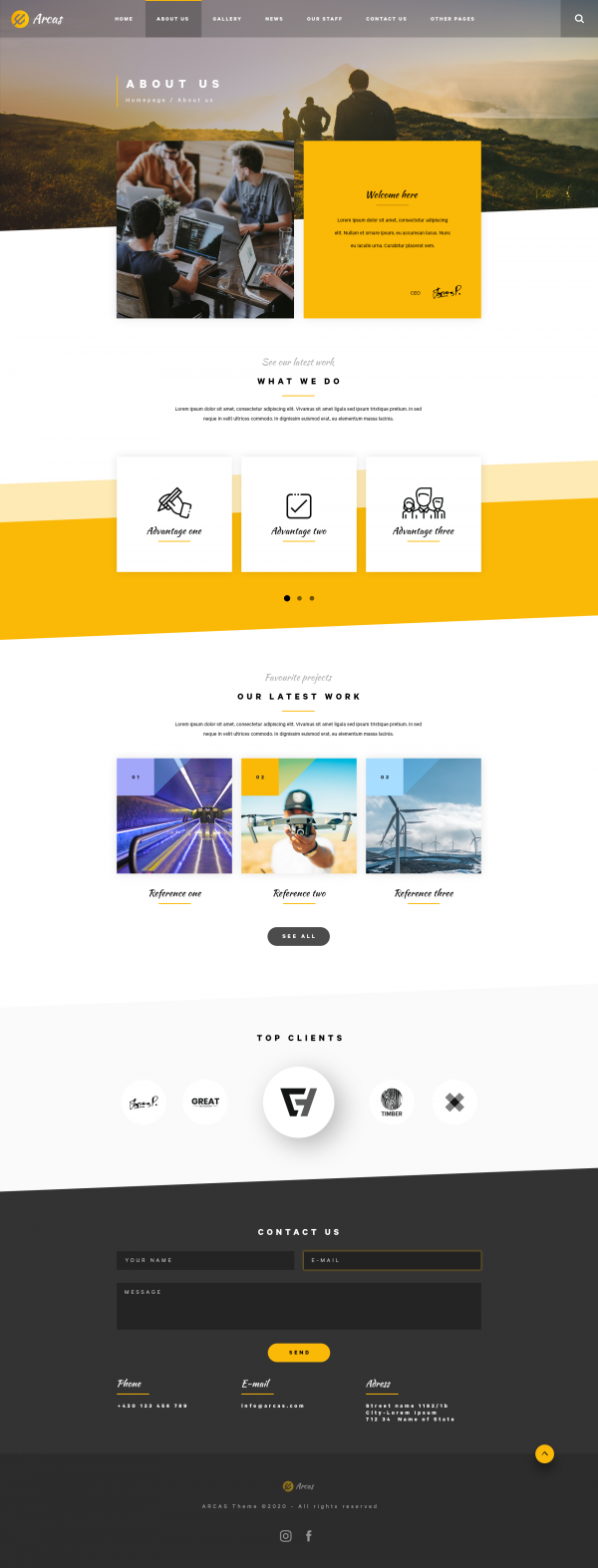 Arcas PSD Template About
