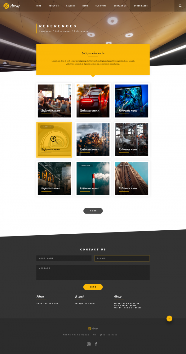 Arcas PSD Template References